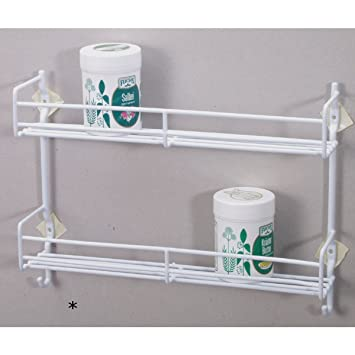 spice rack with hooks and 2 shelves for glasses and spices spice rh amazon co uk shelves for hanging glasses shelves for pint glasses