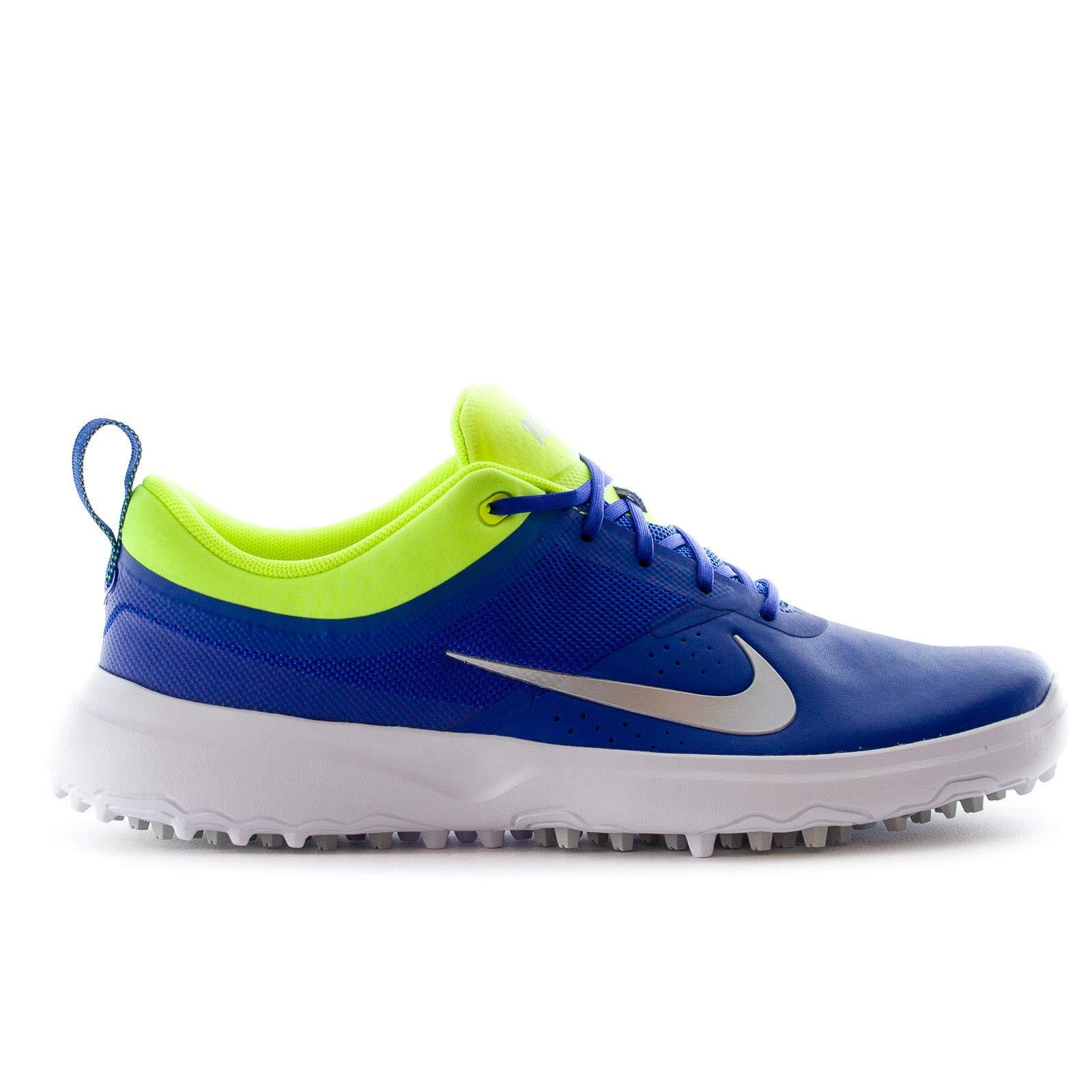 Nike AKAMAI Spikeless Golf Shoes 2017 Women Paramount Blue/Metallic Silver/Volt Medium 8