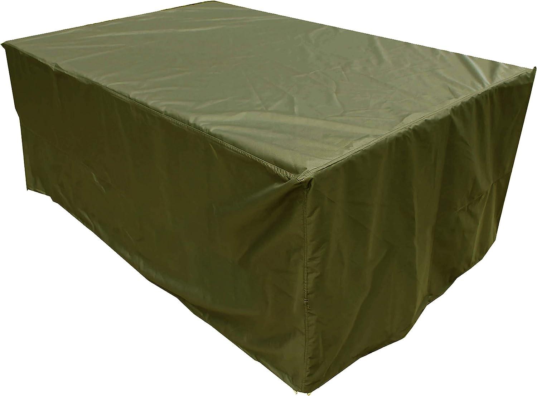 KaufPirat Premium Funda para Muebles de Jard/ín 150x100x75 cm Cubierta Impermeable Funda para Mesa para Mobiliario de Exterior Negro