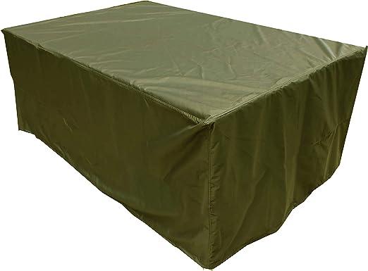 KaufPirat Premium Funda para Muebles de Jardín 210x90x90 cm Cubierta Impermeable Funda para Mesa para Mobiliario de Exterior Verde Oliva: Amazon.es: Jardín