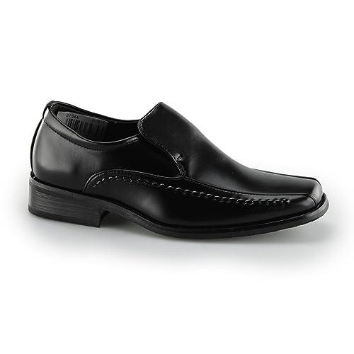 Goor LOCO Mocasín Niños Escuela Mocasines Negro - Negro Piel Sintética, Junior Kids UK 4 / EU 36: Amazon.es: Zapatos y complementos