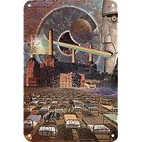 Pink Floyd Póster De Pared Metal Retro Placa