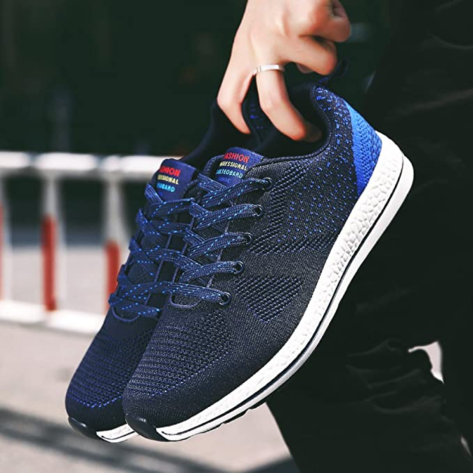 YXLONG Autumn New Running Casual Fashion Mens Sports Shoes Flying Woven Mesh Breathable Shoes