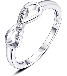 685ec2e48 sailimue Jewelry Bud 925 Sterling Silver Infinity Ring for Women Girls  Forever Love Cubic Zirconia…