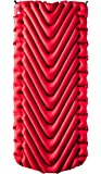 Klymit Insulated Static V Luxe Camping Air Mattress, Red/Char Black, X-Large