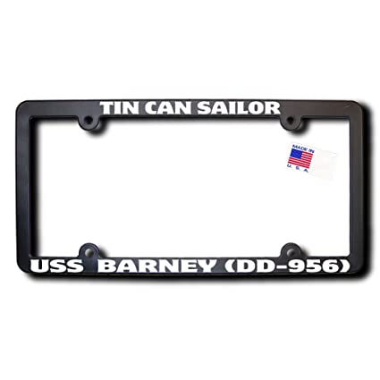 Amazon.com: Tin Can Sailor USS BARNEY (DD-956) License Frame: Automotive
