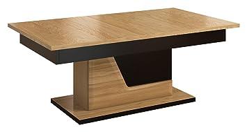 Table basse couleur   Chêne Noir 50 x 130 x 80 cm  Amazon.fr  Bricolage 79124a141f0f