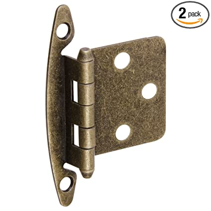 National Hardware S826-305 BB8196 Standard Non-Spring Cabinet Hinge in  Antique Brass, - National Hardware S826-305 BB8196 Standard Non-Spring Cabinet Hinge