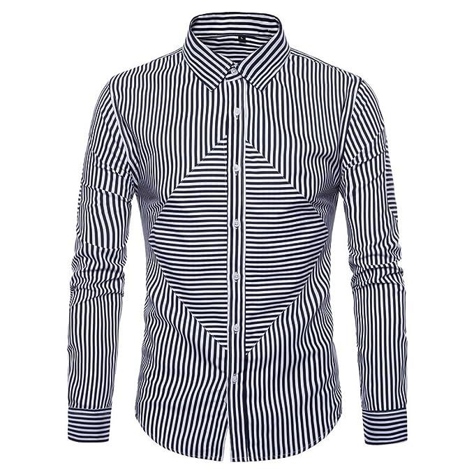 YanHoo Manga Larga para Hombre Oxford Trajes Formales Casuales Slim Fit tee Camisas de Vestir Blusa Top Enviar Amigos Primero: Amazon.es: Ropa y accesorios