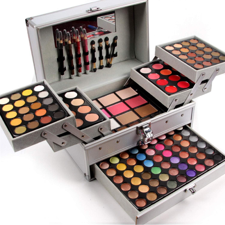 BrilliantDay 132 color paleta de sombra de ojos Blush Corrector Kit Belleza brillo de labios maquillaje Set: Amazon.es: Belleza