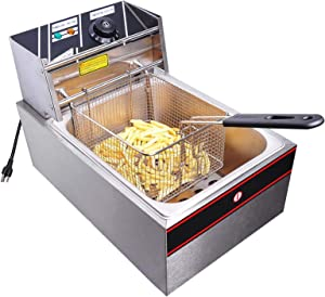 Moralty 6L Electric Countertop Deep Fryer Commercial Basket French Fry Restaurant 2500W Electric Vintage Cooker Automatic Fry Basket Hy Model W Oster Fritter Instruction M 200 Sears Retro Mid Century
