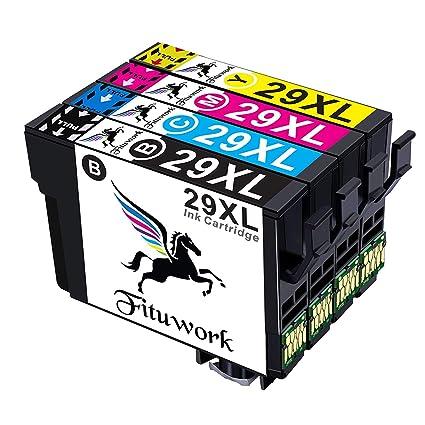 Fituwork 29XL 29 XL Reemplazo para Epson 29XL 29 XLCartuchos de tinta Compatible con Epson Expression Inicio XP-235 XP-332 XP-335 XP-432 XP-245 XP-247 ...