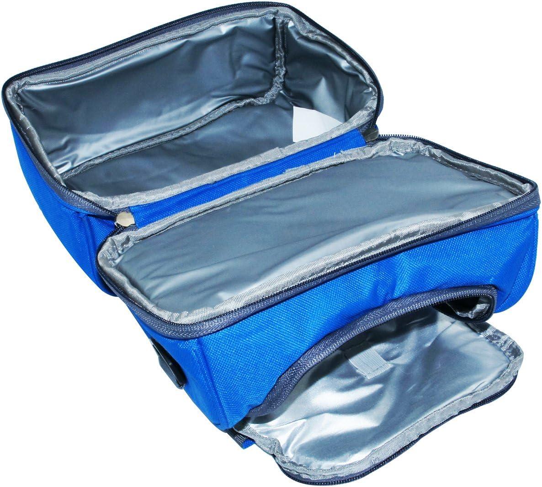 azul Em Home Bolsa Nevera T/érmica Port/átil Impermeable de Capacidad 6L Tama/ño 23x14x20cm