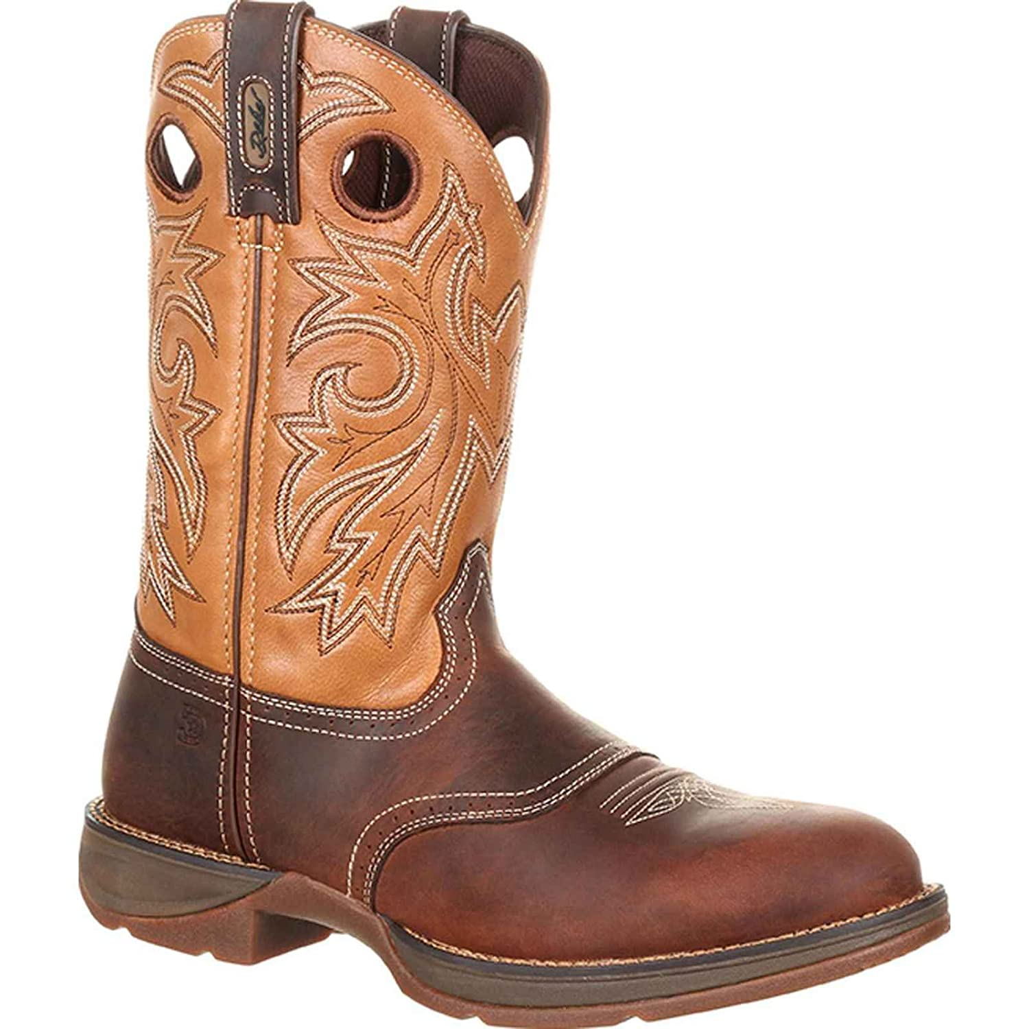 Rebel by Durango Men's Brown and Tan Saddle Western Boot DDB0132 9.5 W