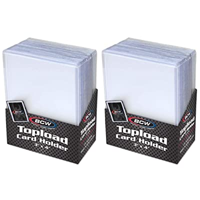 """BCW Clear Topload Card Holder for Standard Cards 3"""" x 4"""" (50-Count Total): Toys & Games"""
