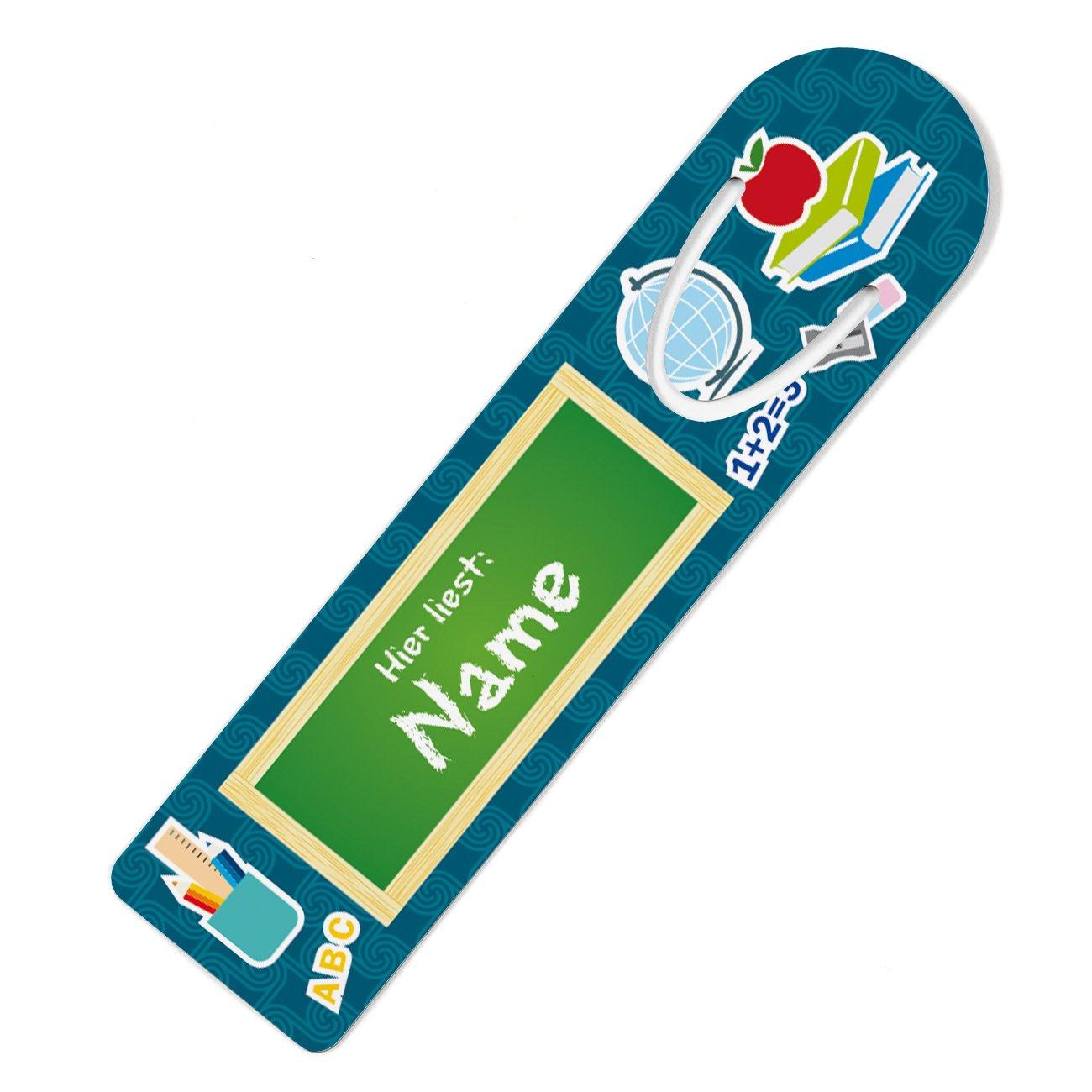 Striefchen/® 2 Lesezeichen mit Namen ideal zur Schuleinf/ührung in die Schult/üte mit Geschenkverpackung