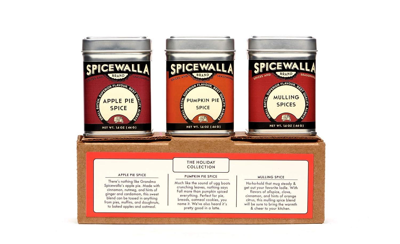 Spicewalla Holiday Spice Set 3 Pack | Pumpkin Pie Spice, Apple Pie Spice, Mulling Spices | Non-GMO, No MSG