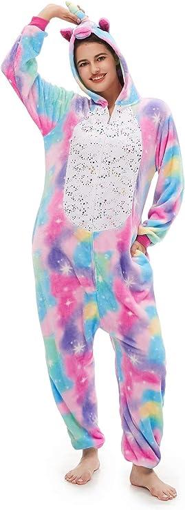 Amazon.com: Piyama de unicornio para adulto Disfraz de ...