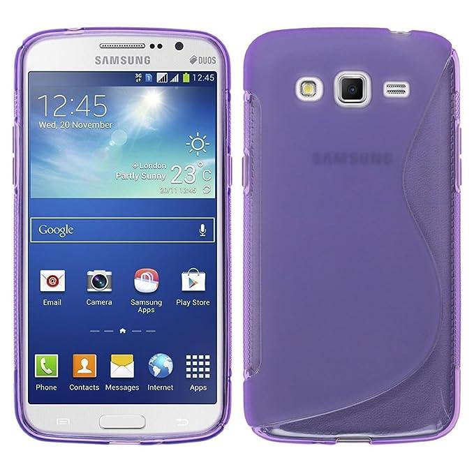 Samsung Galaxy Grand 2 Caso HCN PHONE S-Line TPU Gel Silicona Carcasa flexible para Samsung Galaxy Grande 2 - TRANSPARENTE