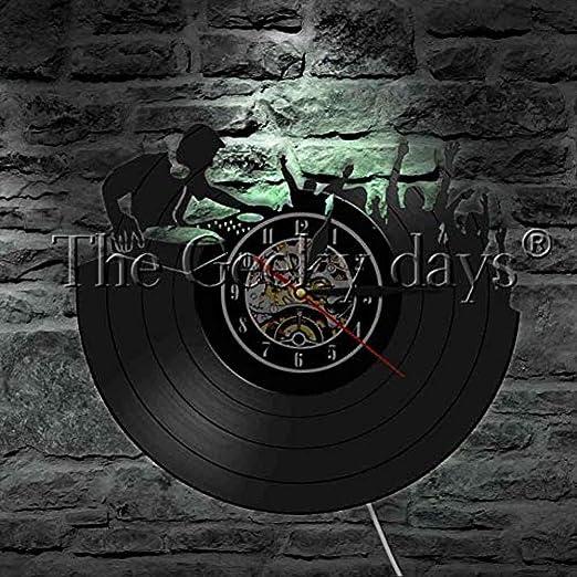 Acrylicvinyl record fashion Reloj de pared DJ tocadiscos ...