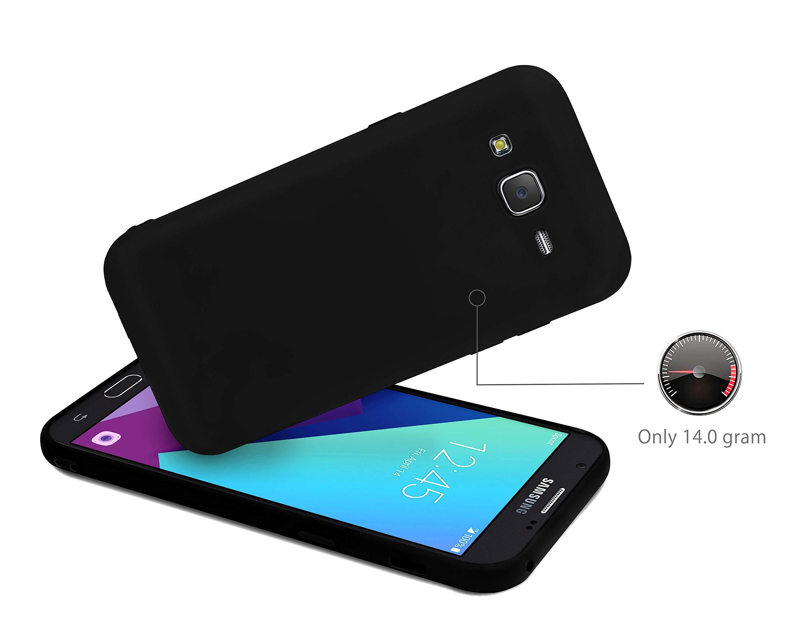 MyGadget TPU Etui en silicone pour - Samsung Galaxy J7 (2016) - Ultra-mince (1,2 mm) manchon en caoutchouc de lumière douce Housse en silicone Case Black