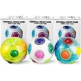 AMENON Rainbow Puzzle Ball Stress Balls Cube Fidget Sensory Toy Magic Rainbow Ball Puzzle Stress Fidget Ball Brain Teasers Ga