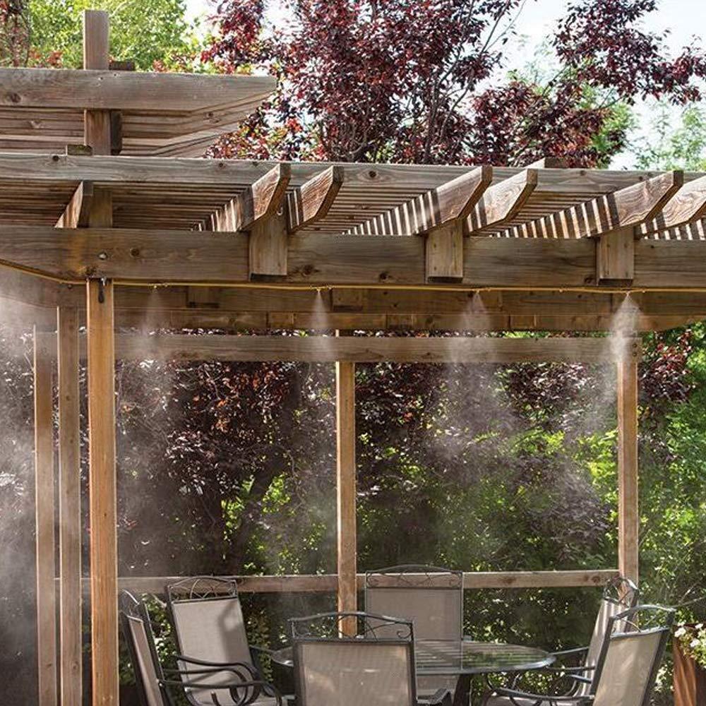 Mister Cooling Spray Kits 1//2 Explopur Outdoor 8M Mist Cooling System Water Sprinkler for Garden Patio