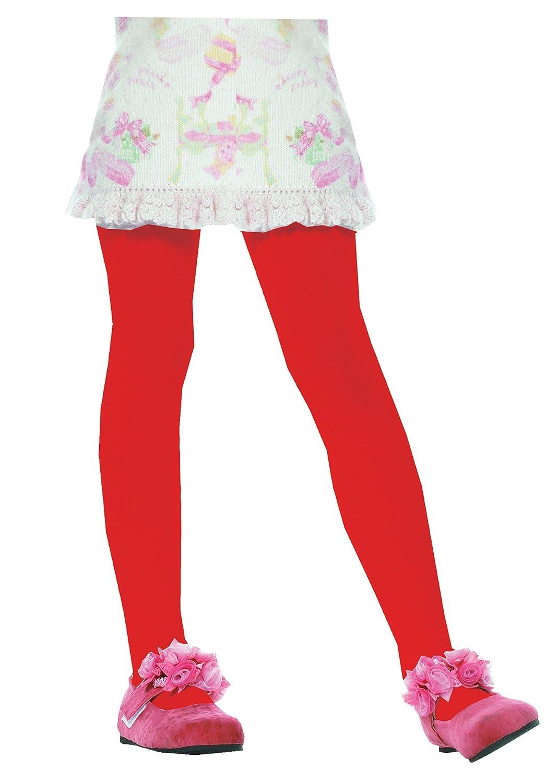 Leg Avenue Kids Opaque Pantyhose_red_7-10