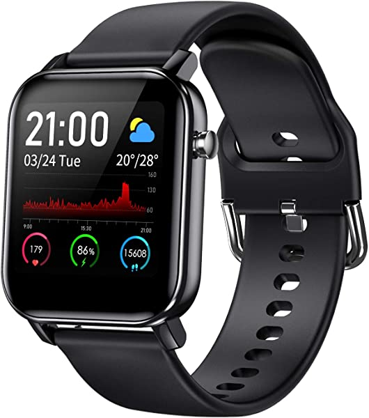 """COULAX Smart Watch, Fitness Tracker with 1.4"""" Touch Screen, Activity Tracker with Blood Oxygen Monitor, Step Counter with Locus Tracking Map, Sport Watch with Heart Rate Monitor for Women and Men"""