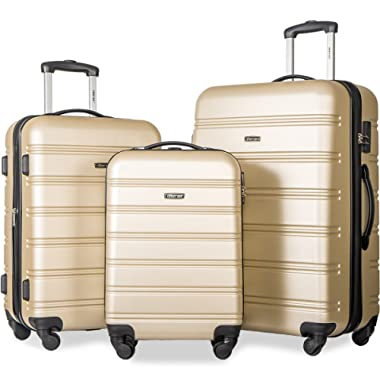 d47015f81 Merax Travelhouse Luggage Set 3 Piece Expandable Lightweight Spinner  Suitcase