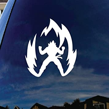 Super saiyan goku dragon ball z car window vinyl decal sticker 6 tall by socooldesign