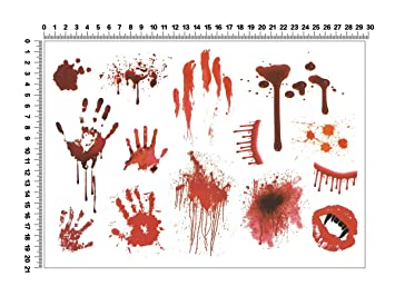 Cool Change temporärere Tattoo sangre manchas Pegatinas: Amazon.es ...