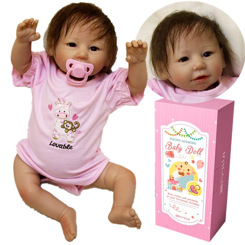 Amazon.es: ZIYIUI Realista Muñeca bebé Reborn 55 cm Recién Nacido ...