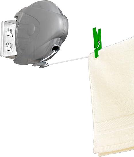 WENKO ausziehbare Wäscheleine Jumbo bis 15 m mit Automatik Wäschetrockner NEU
