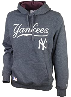 New Era Mens New York Yankees MLB Hoody in Navy- Ribbed Cuffs and Hem- 152b175a8fa