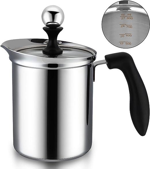 14oz Milk Frother for Espresso Cappacino Mocha Latte