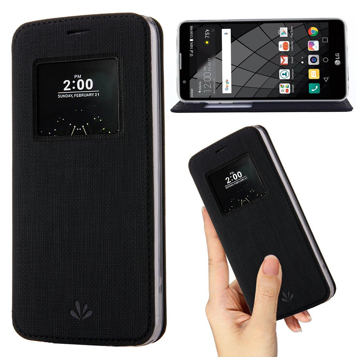 more photos 01bbd 41473 Amazon.com: LG G6 Case,Premium Flip Leather Case View Window Sleep ...