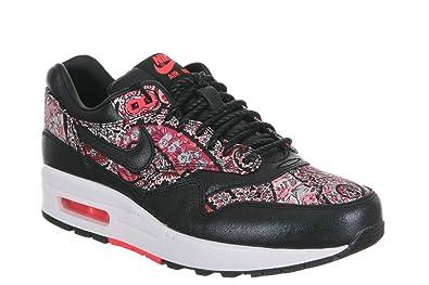 sale retailer b9854 65577 Womens Nike Air Max 1 Liberty QS - Black Black-Solar Red-White