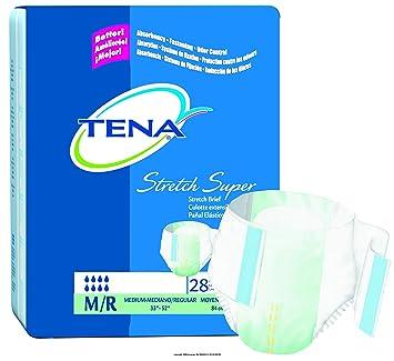 TENA Stretch Brief, Super Absorbency, Tena Stretch Super Brf M-R, (1 PACK