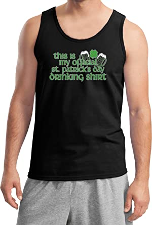 8bc365bae Amazon.com: Buy Cool Shirts Mens ST Patricks Day Tanktop Official Drinking Shirt  Tank Top: Clothing