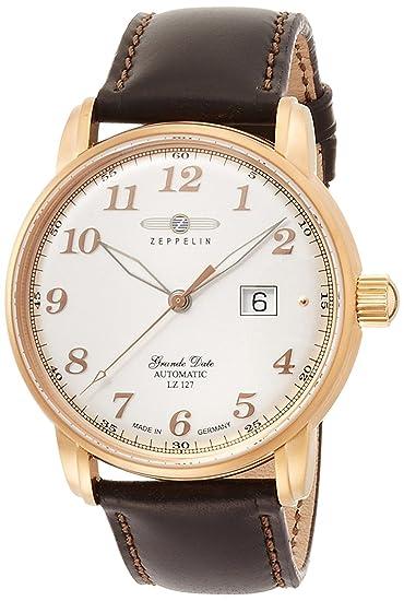 Zeppelin Reloj Graf plata Dial Automatic Winding 7652 - 5 de hombre: Amazon.es: Relojes