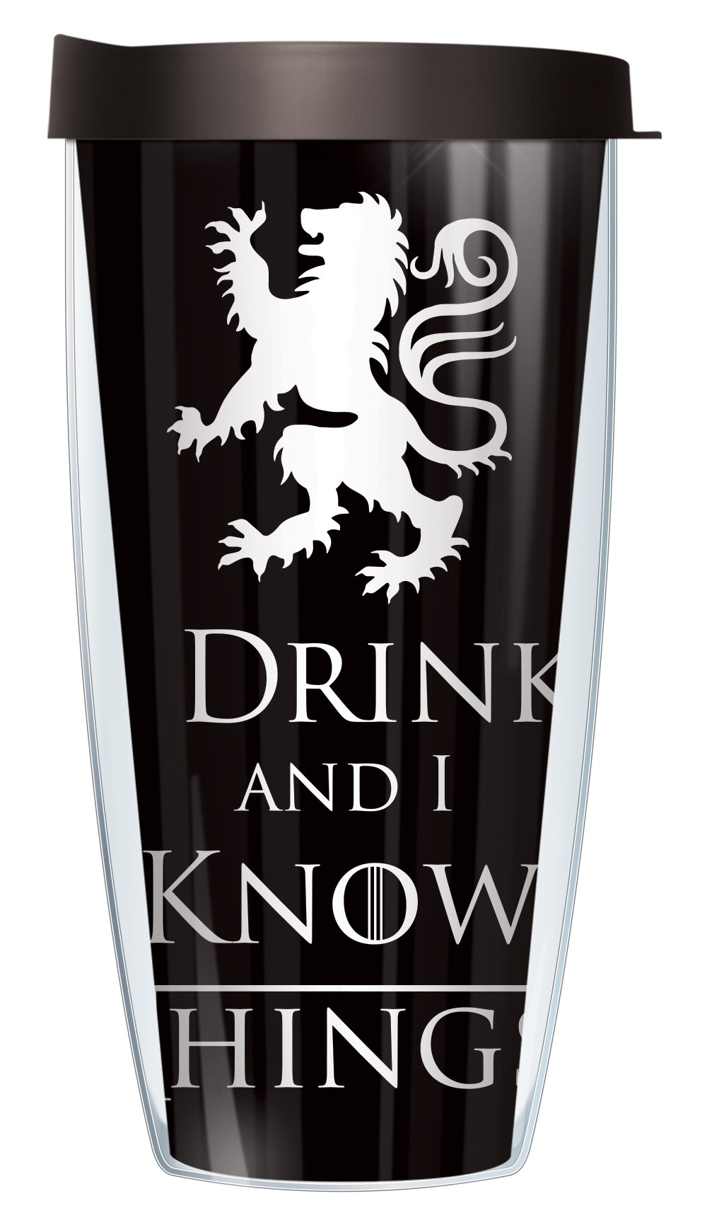 I Drink and I Know Things Funny 22oz Mug Tumbler Cup with Black Lid