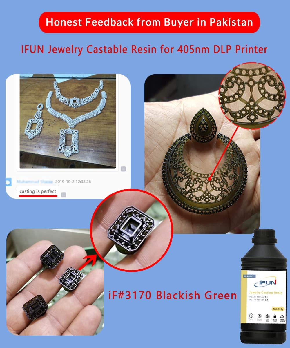 IFUN Jewelry Casting Resina para DLP 3D Impresora Lost Wax Casting ...