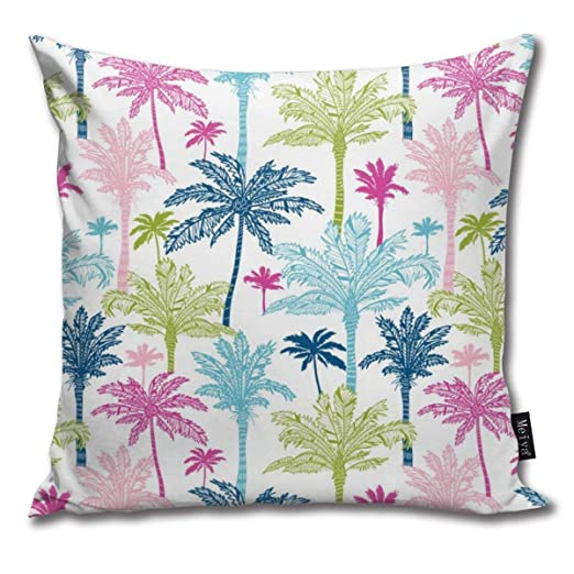 Zara-Decor Colorful Palm Trees Home Funda de cojín ...