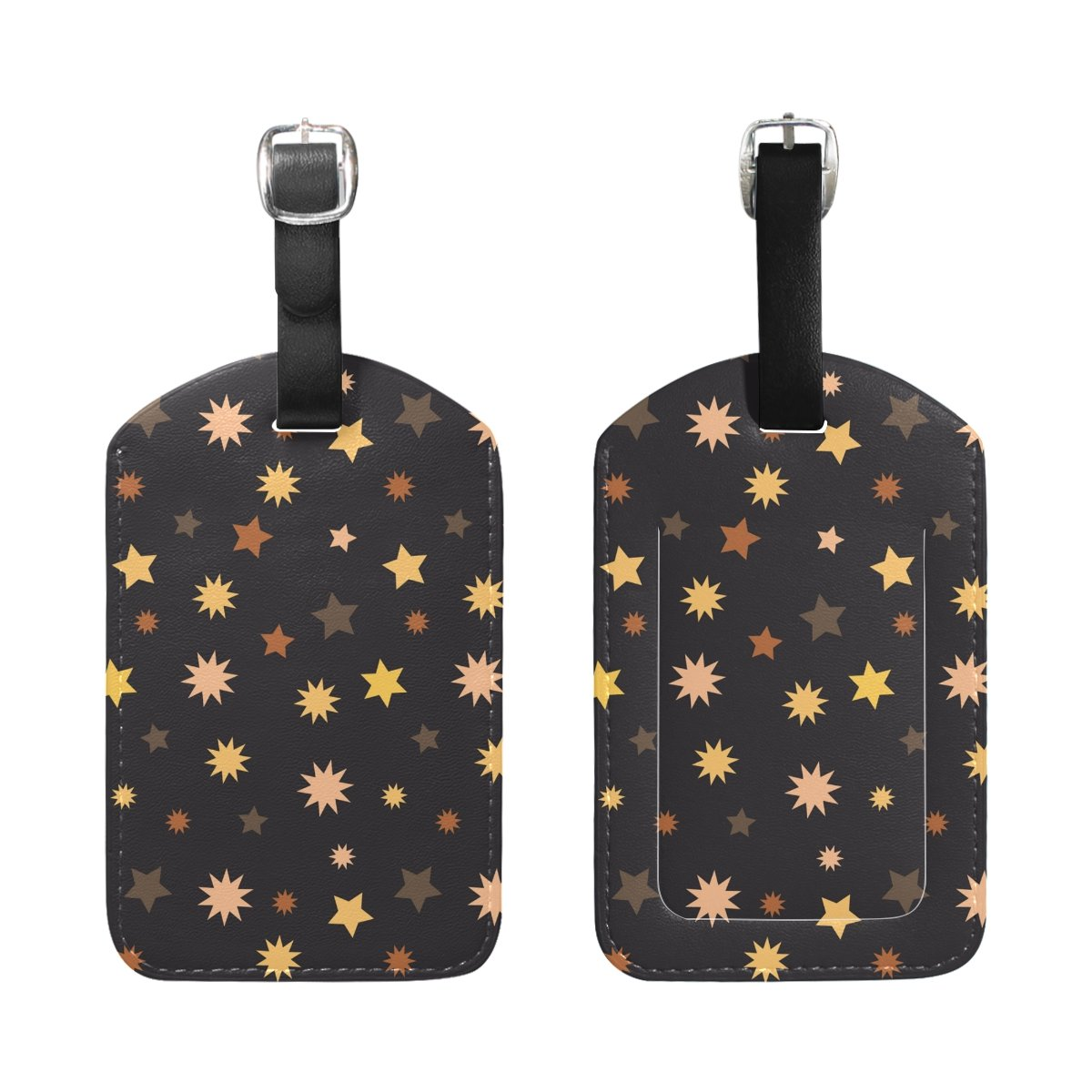 Saobao Travel Luggage Tag Colorful Star PU Leather Baggage Travel ID