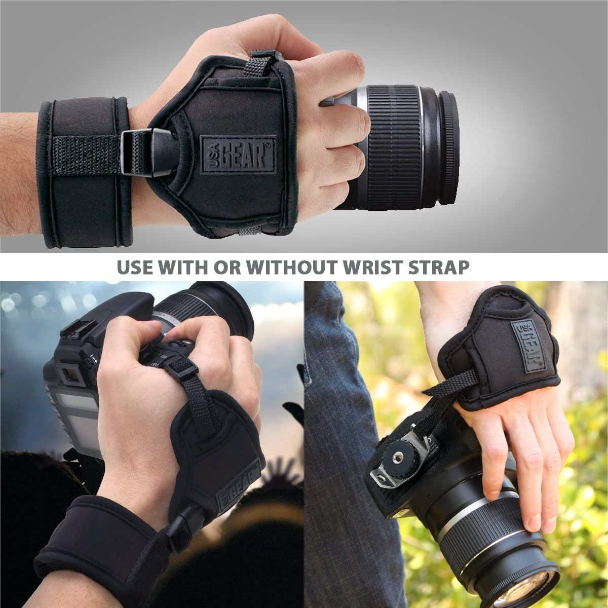 Point /& Shoot Cameras Fujifilm USA GEAR Professional Camera Grip Hand Strap with Galaxy Neoprene Design and Metal Plate Nikon Mirrorless Compatible with Canon Sony and more DSLR