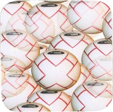 3dRose CST/_3189/_3 Soccer Ball Ceramic Tile Coasters Set of 4