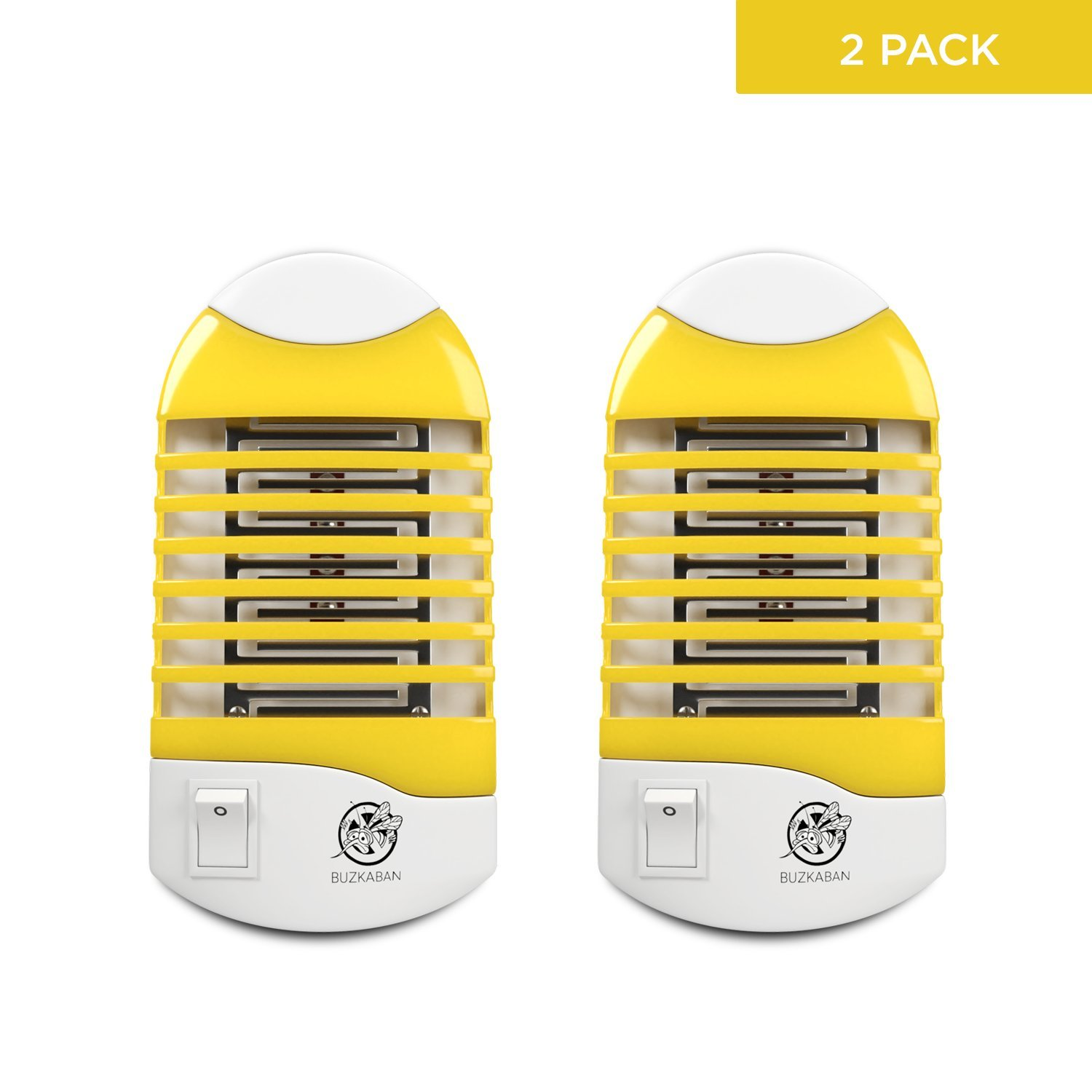 Mosquito Zapper - Electronic Fly Killer - Indoor Bug Zapper Insect Killer - Best Gnat Trap 2 Pack Yellow Color (12) by Markinn