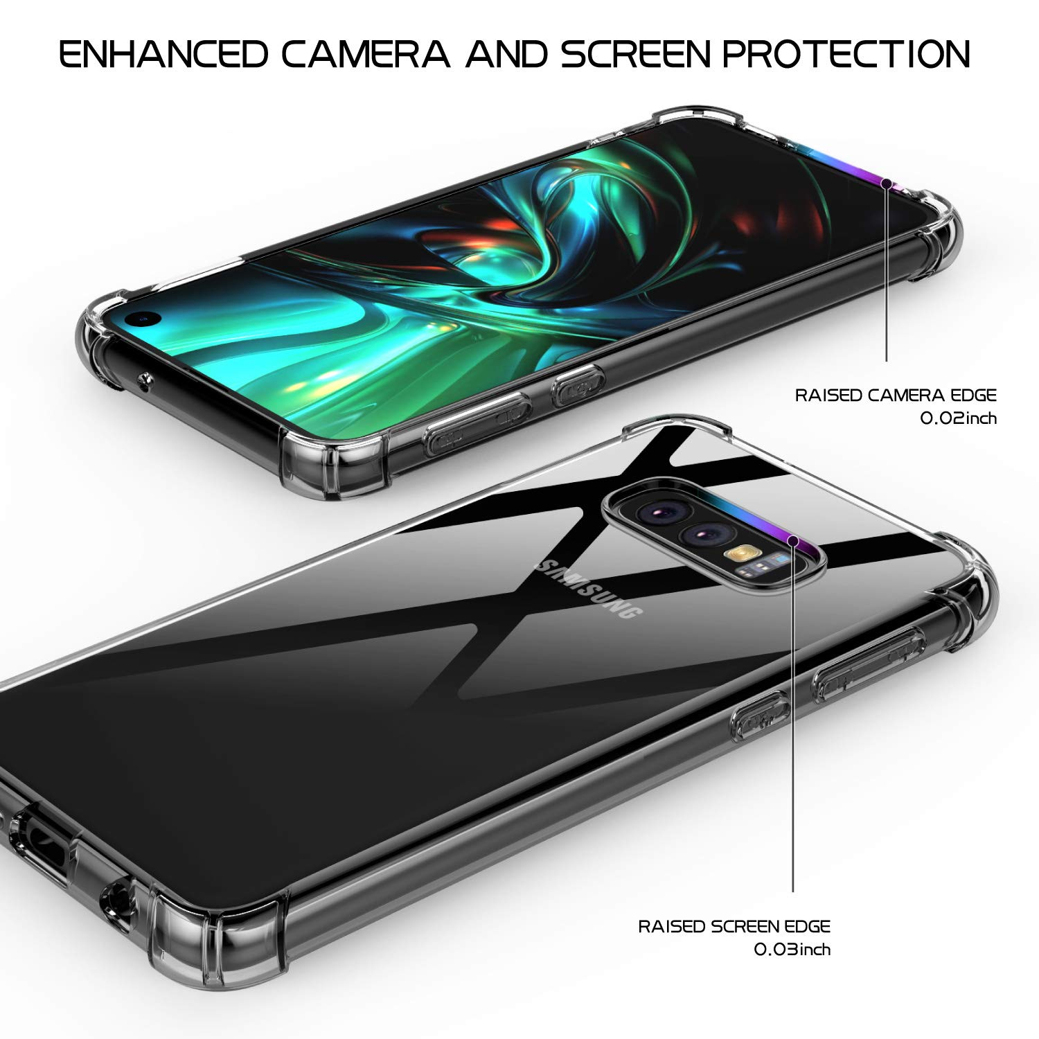 Samsung Galaxy S10E Case, SPIDERCASE Clear Ultra Thin Slim Fit Soft TPU Protective Cover, Shock-Absorption Cover, Anti-Scratch, HD Clear, Compatible for Samsung Galaxy S10E 5.8inch 2019 Released