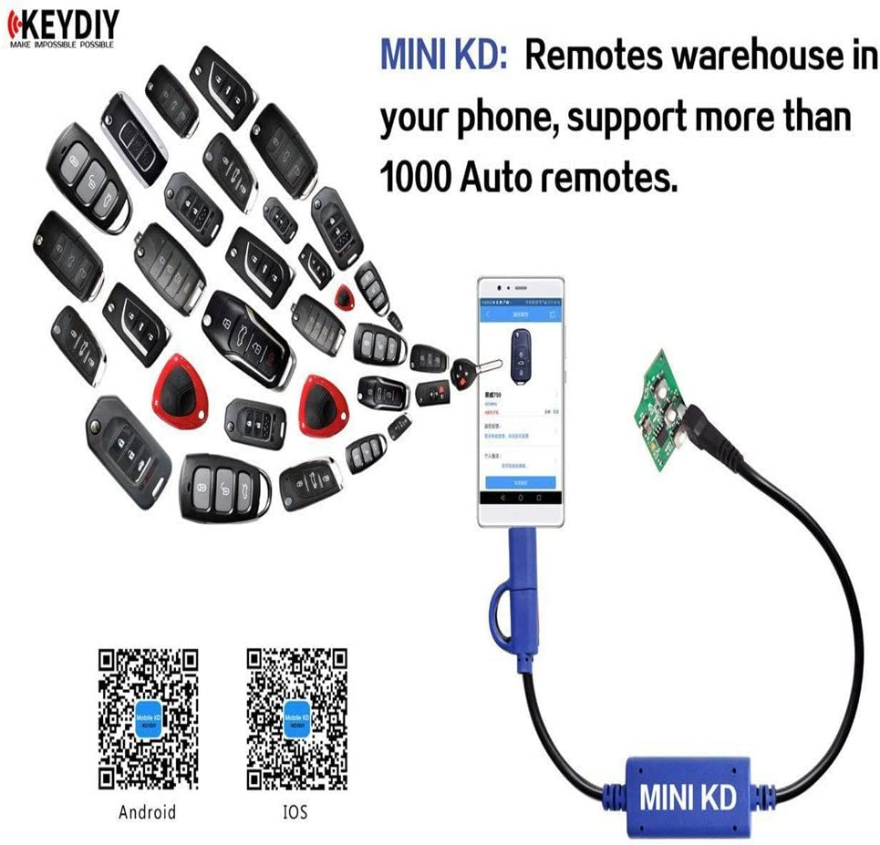 KEYDIY Mini KD Remote Key Generator Remotes Support Android Make More 1000